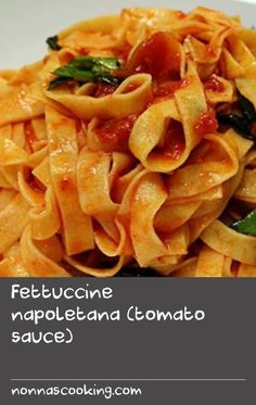 Fettuccine napoletana (tomato sauce) | This classic Italian pasta dish of fettuccine with Napoletana sauce is confirmation that the simple things in life are often the best (and even better if you know a few tricks!). In this recipe, Maurizio Esposito shaves his garlic into very thin discs using a mandolin slicer, prefers shallots to onions for their sweetness, mashes up the best-quality Italian tinned tomatoes with his hands, and tears the basil, adding it last so it stays fresh and green. Best Italian Dishes, Italian Pasta Dishes, Italian Pasta Recipes, Best Pasta Recipes, Best Italian Recipes, Greek Recipes, Swede Recipes, Garlic Recipes, Onion Recipes