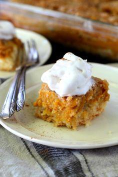 Nothing can satisfy my pumpkin cravings like Grandma's Pumpkin Pie Dessert Squares aka my family's VERY favorite dessert. Seriously so yum!