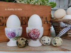 Le mie uova dal guscio bianco.