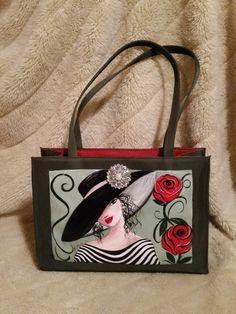 Handmade Handbags, Leather Bags Handmade, Tote Handbags, Purses And Handbags, Vanity Bag, Painted Bags, Diy Tote Bag, Art Bag, Wholesale Bags