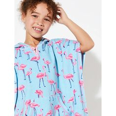 3928bcb0fa6 BuyJohn Lewis Girls  Flamingo Towel Poncho