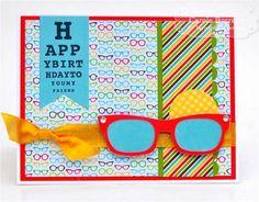Happy Birthday Specs by Carole Burrage #Cardmaking, #ShareJoy, #Birthday