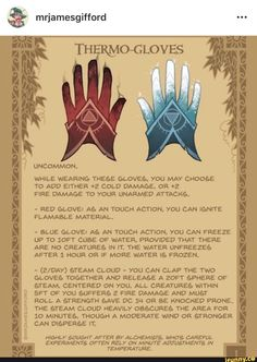 Homebrewing items Glove of Appreciation - Well! Im honestly blown away by the love people have shown for the daily magic items Ive been posting. Its a fun Dnd Dragons, Dungeons And Dragons Characters, D&d Dungeons And Dragons, Dnd Characters, Magic Armor, Dnd Stats, Pen & Paper, Dnd Stories, Dungeon Master's Guide