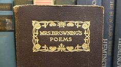 Mrs  Browning's Poems https://www.etsy.com/listing/176600870/vintage-book-of-poetry-by-elizabeth