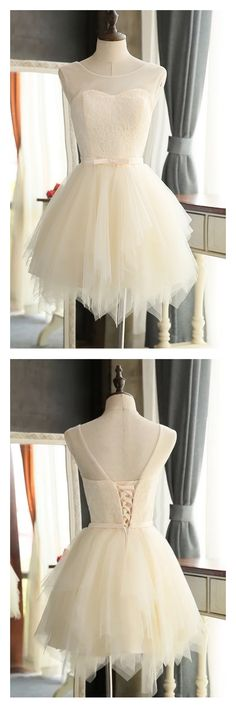 ivory homecoming dresses, 2k17 homecoming dresses,layers homecoming dresses,knot homecoming dresses, short mini cocktail dresses, party dresses, graduation dresses,prom dresses #SIMIBridal #homecomingdresses