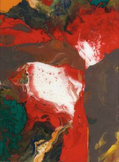 Gerhard Richter, Aladin (Aladdin), 2010 . Lacquer on back of glass. 50cm H x 37cm W. [913-1]