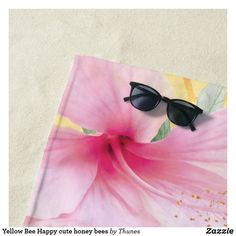 Shop Bee Happy bumble bees yellow honeycomb sweet Beach Towel created by Thunes. Yellow Towels, Custom Beach Towels, Honeycomb Pattern, Bee Happy, Happy Summer, Animal Skulls, Monogram Letters, Diy Face Mask, Pink And Green