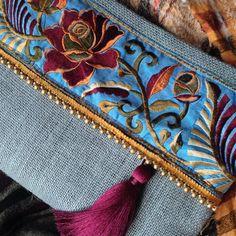 Ethnic Clutch womens bag boho bag bohemian by BOHOCHICBYDAMLA