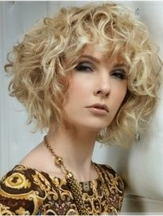100% Human Hair New Fashion High Quality Special Cool Medium Curly Blonde Wig about 10 Inches  Original Price: $509.00 Latest Price: $160.89