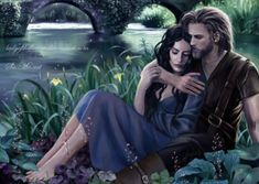 Beyond his hope she returned to him where he sat in darkness, and long ago in the Hidden Kingdom she laid her hand in his. Thereafter often she came to him, and they went in secret through the woods together from spring to summer; and no others of the Children of Ilúvatar have had joy so great, though the time was brief. ~ The Silmarillion, Chapter 19 (Beren and Luthien in Tol Galen by Ladyoftheflower, deviantART)