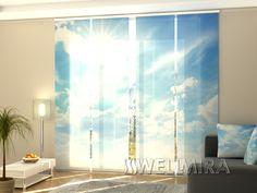 Set of 4 Panel Curtains Sky  #Wellmira #ModernCurtains #PanelCurtains #Curtains #JapaneseCurtains #Fotogardine #Schiebevorhang #Flächenvorhang #Schiebegardine #Sky  https://wellmira.com/collections/sets-of-4-panel-curtains/products/set-of-4-panel-curtains-sky?variant=25693693319
