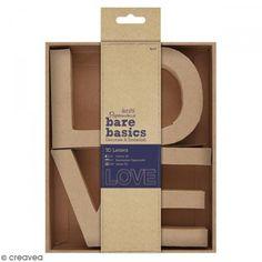 Letras de cartón - Love - 10 x 7 cm - 4 uds - Fotografía n°1