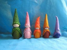 gnome peg people for boookcase doll house