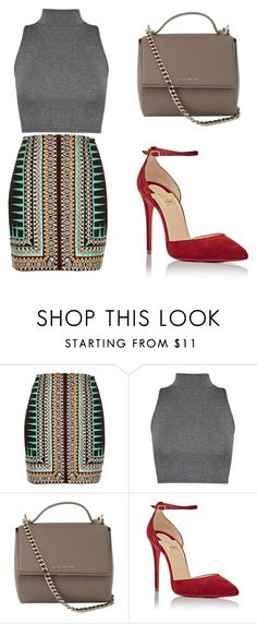 """""""Untitled #242"""" by ines-louu ❤ liked on Polyvore featuring River Island, WearAll, Givenchy and Christian Louboutin"""