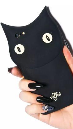 Einzigartige Schwarze Katze Silikon Handyhülle für iphone 6 und iphone 6 Plus…