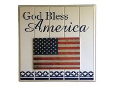 Every day!  God Bless America!  This charming patriotic plaque is 10.5 x 10.5 inches and features a raised American Flag on a white bead board background.    It's perfect to hang in your home or office during the 4th of July, Memorial Day and Veteran's Day or any time of year.  Proudly display your American pride with this classic patriotic home decor.    A great gift for your favorite patriot, veteran or soldier.