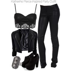 """The Vampire Diaries - Katherine Pierce Inspired Party Outfit"" by staystronng on Polyvore"