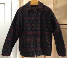 Vintage Mens Woolrich Lined Wool Jacket Aztec Southwest Indian Blanket Coat M | eBay