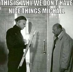 Best 30 Funny Halloween Memes memes michael myers Not Found Funny Halloween Memes, Halloween Quotes, Spirit Halloween, Halloween Halloween, Stupid Memes, Funny Jokes, Hilarious, Michael Myers Memes, Horror Movie Characters
