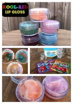 Kool-aid lipgloss... Made this and it's awesome!! :-)