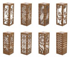 Set of Various Desk Lamp wooden Shades. Vector model for CNC laser, router cutting. This layout is prepared for a thickness of 3 mm plywood CDR or AI files For CNC Plasma, Laser Cut or CNC Router You buy SET of 4 LAMPS