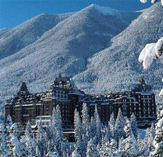 A train to the Canadian Rockies to stay at the ice crystal Banff Springs hotel. Wonderful!    01 photo
