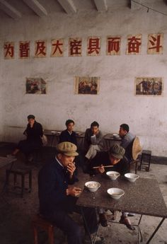 Bruno Barbey, In a restaurant, Yangshuo, China, Old Photos, Vintage Photos, Ecole Art, Photographer Portfolio, French Photographers, Magnum Photos, Photojournalism, Chinese Art, Live Action