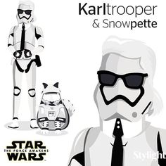 choupettesdiaryChoupette Lagerfeld May the force be with you! #StyleTrooper @stylight #KarlTrooper #Snowpette -