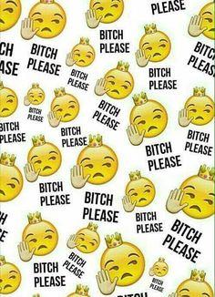 Imagen de emoji, bitch, and wallpaper