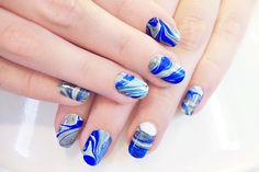Tutorial: Abstract Marble Nail Art :: On The Streets Of Sydney - Discover Sydney Style through Street Fashion