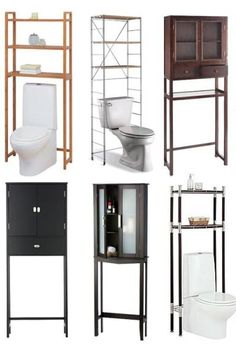 the best modern space savers for storage over the toilet in a small bathroom