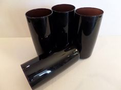 $20.00 - Vintage Amethyst Glass Tumblers Anchor Hocking by TheFlyingHostess