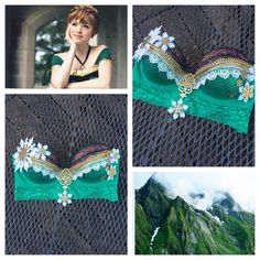 Anna Inspired Frozen Rave Bra  34C by whythecagedbirdsings on Etsy