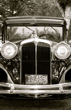 Vintage Automobile, 1931, Black and White Photograph
