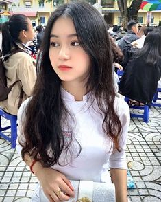 Cute Asian Girls, Beautiful Asian Girls, Cute Girls, World's Cutest Girl, Vietnamese Dress, Vietnamese Traditional Dress, Traditional Dresses, Asian Model Girl, Korean Girl Fashion