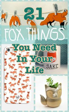 21 Adorable Fox Products You Need In Your Life #patrickborgenmd
