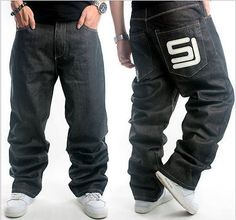 Mens #jeans sean john baggy loose denim hip-hop rap skateboard #pants…