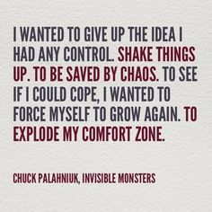 invisible monsters chuck palahniuk quotes - Buscar con Google