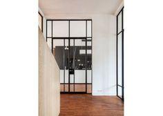 IQ Metal's Mondrian Internal steel doors and windows add art deco and old-age industrial chic to contemporary spaces Steel Doors And Windows, Mondrian, Industrial Chic, Glass Door, New Art, Art Deco, Dining Room, Loft, Interiors