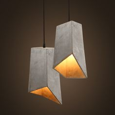 Concrete Odense Type D Minimalist Pendant Light (Handre de la Rey concrete pendant light replica)