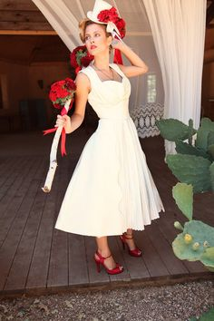 tea length wedding dress---awesome!