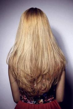 Long Layered Straight Haircuts Back View