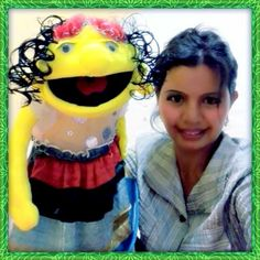 My hand made puppet.