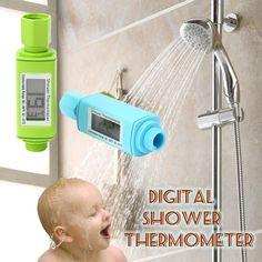 防水デジタルシャワーヘッド水温計、警報付き赤ちゃんLEDライト