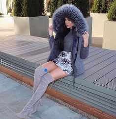 Laura Badura in Stuart Weitzman boots Thigh High Boots, Over The Knee Boots, Laura Badura, Hot Shoes, Real Women, Everyday Outfits, What I Wore, Mini Skirts, Instagram