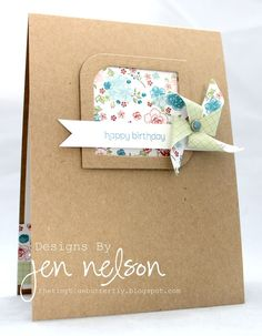 The Tiny Blue Butterfly: stampin up