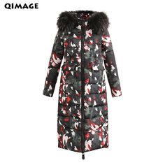 Cheap winter women jacket, Buy Quality jacket with fur directly from China women jacket with fur Suppliers: 2017 Camouflage Long Cotton Padded Winter Women's jackets With fur Thick Warm Female Overcoat All-Match Parka High Quality Winter Jackets Women, Coats For Women, Clothes For Women, Plus Size Herbst, Camouflage Coat, Parka Style, Womens Parka, Fur Jacket, Summer Dresses