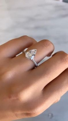 Pear Shaped Diamond Ring, Pear Shaped Engagement Rings, Engagement Sets, Engagement Ring Settings, Vintage Engagement Rings, Diamond Rings, Wedding Rings, Wedding Bells, Wedding Stuff