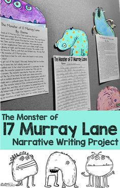 Monster of 17 Murray Lane: A Narrative Writing Project for Grades 4th Grade Writing Prompts, Fifth Grade Writing, Narrative Writing, Writing Lessons, Teaching Writing, Teaching Ideas, Student Teaching, Writing Help, Fun Writing Activities