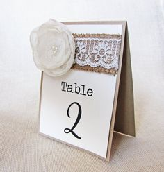 Table Numbers Wedding Party Rustic Burlap and by LoveofCreating, $30.00